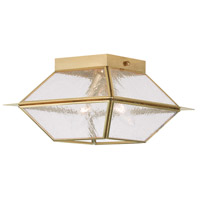 Livex 2175-02 Mansfield 2 Light 9 inch Polished Brass Outdoor/Indoor Ceiling Mount