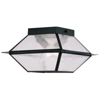 Livex Lighting Mansfield 2 Light Outdoor Ceiling Mount in Black 2175-04