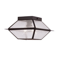 Mansfield 2 Light 9 inch Bronze Outdoor Ceiling Mount