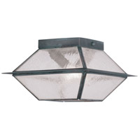 Livex Lighting Mansfield 2 Light Outdoor Ceiling Mount in Charcoal 2175-61