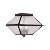 Livex Lighting Mansfield 3 Light Outdoor Ceiling Mount in Bronze 2176-07