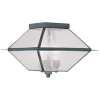 Livex Lighting Mansfield 3 Light Outdoor Ceiling Mount in Charcoal 2176-61