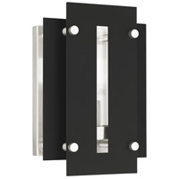 Livex 21771-04 Utrecht 1 Light 10 inch Black with Brushed Nickel Accents Outdoor Wall Lantern