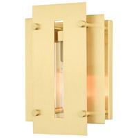 Livex 21771-12 Utrecht 1 Light 10 inch Satin Brass Outdoor Wall Lantern