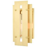 Livex 21772-12 Utrecht 1 Light 14 inch Satin Brass Outdoor Wall Lantern