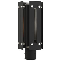 Livex 21774-04 Utrecht 1 Light 16 inch Black with Brushed Nickel Accents Outdoor Post Top Lantern