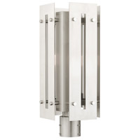 Livex Lighting 21776-91 Utrecht 1 Light 20 inch Brushed Nickel Accents Outdoor Post Top Lantern