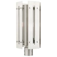 Livex 21776-91 Utrecht 1 Light 20 inch Brushed Nickel Accents Outdoor Post Top Lantern