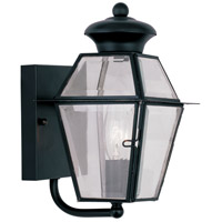 Livex 2180-04 Westover 1 Light 9 inch Black Outdoor Wall Lantern photo thumbnail
