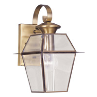 Livex 2181-01 Westover 1 Light 13 inch Antique Brass Outdoor Wall Lantern