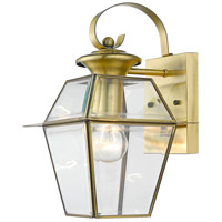 Westover 1 Light 13 inch Antique Brass Outdoor Wall Lantern