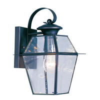 Livex Lighting Westover 1 Light Outdoor Wall Lantern in Black 2181-04