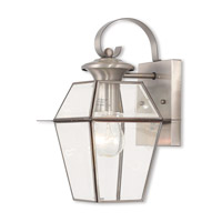 Livex 2181-91 Westover 1 Light 13 inch Brushed Nickel Outdoor Wall Lantern