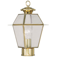 Livex Lighting Westover 1 Light Outdoor Post Head in Polished Brass 2182-02 photo thumbnail