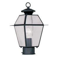 Livex Lighting Westover 1 Light Outdoor Post Head in Black 2182-04 photo thumbnail