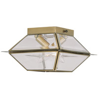 Livex Lighting Westover 2 Light Outdoor Ceiling Mount in Antique Brass 2184-01