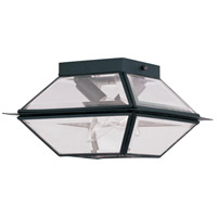 Livex Lighting Westover 2 Light Outdoor Ceiling Mount in Black 2184-04