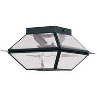 Livex 2184-04 Westover 2 Light 9 inch Black Outdoor Ceiling Mount