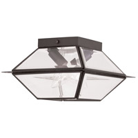 Livex 2184-07 Westover 2 Light 9 inch Bronze Outdoor Ceiling Mount