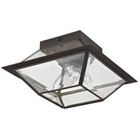 Livex 2184-07 Westover 2 Light 9 inch Bronze Outdoor Ceiling Mount alternative photo thumbnail