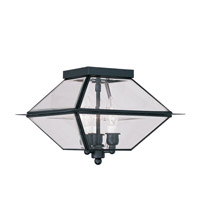 Livex Lighting Westover 3 Light Outdoor Ceiling Mount in Black 2185-04