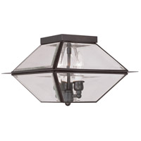 Westover 3 Light 12 inch Bronze Outdoor Ceiling Mount