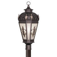 Livex 2197-07 Berkshire 3 Light 28 inch Bronze Outdoor Post Head