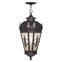 Livex Lighting Berkshire 3 Light Outdoor Hanging Lantern in Bronze 2199-07