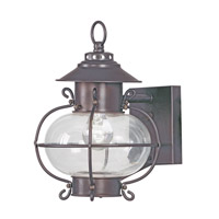 Livex Lighting Harbor 1 Light Outdoor Wall Lantern in Bronze 2221-07