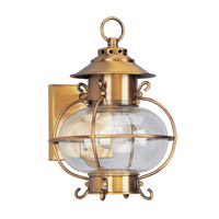 Livex Lighting Harbor 1 Light Outdoor Wall Lantern in Flemish Brass 2221-22