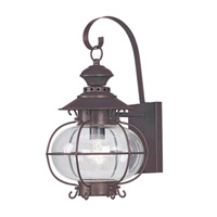 Livex 2222-07 Harbor 1 Light 18 inch Bronze Outdoor Wall Lantern