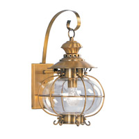 Harbor 1 Light 18 inch Flemish Brass Outdoor Wall Lantern