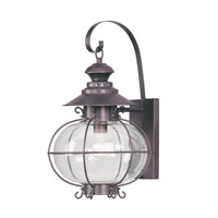 Livex Lighting Harbor 1 Light Outdoor Wall Lantern in Bronze 2223-07