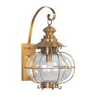 Livex Lighting Harbor 1 Light Outdoor Wall Lantern in Flemish Brass 2223-22