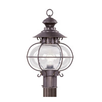 Livex 2224-07 Harbor 1 Light 17 inch Bronze Outdoor Post Head