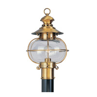 Harbor 1 Light 17 inch Flemish Brass Outdoor Post Head