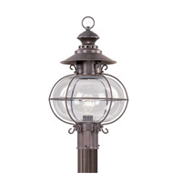 Livex 2226-07 Harbor 1 Light 21 inch Bronze Outdoor Post Head