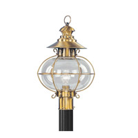 Harbor 1 Light 21 inch Flemish Brass Outdoor Post Head