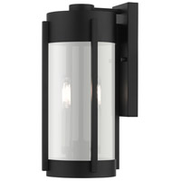 Livex 22382-04 Sheridan 2 Light 16 inch Black with Brushed Nickel Candles Outdoor Wall Lantern