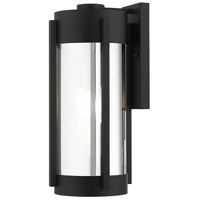 Livex 22383-04 Sheridan 3 Light 19 inch Black with Brushed Nickel Candles Outdoor Wall Lantern