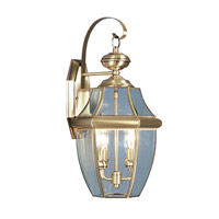Livex 2251-01 Monterey 2 Light 20 inch Antique Brass Outdoor Wall Lantern