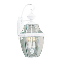 Livex Lighting Monterey 2 Light Outdoor Wall Lantern in White 2251-03 photo thumbnail