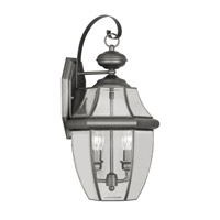 Livex Lighting Monterey 2 Light Outdoor Wall Lantern in Black 2251-04 photo thumbnail