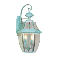 Livex Lighting Monterey 2 Light Outdoor Wall Lantern in Verdigris 2251-06