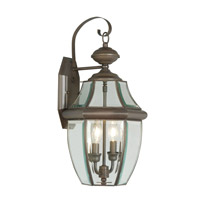 Livex Lighting Monterey 2 Light Outdoor Wall Lantern in Bronze 2251-07