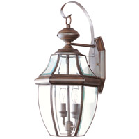 Livex Lighting Monterey 2 Light Outdoor Wall Lantern in Imperial Bronze 2251-58