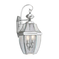 Livex Lighting Monterey 2 Light Outdoor Wall Lantern in Brushed Nickel 2251-91