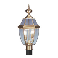 Livex Lighting Monterey 2 Light Outdoor Post Head in Antique Brass 2254-01