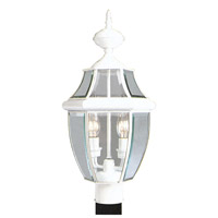 Livex 2254-03 Monterey 2 Light 22 inch White Outdoor Post Head