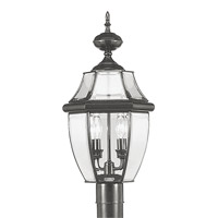 Livex Lighting Monterey 2 Light Outdoor Post Head in Black 2254-04 photo thumbnail